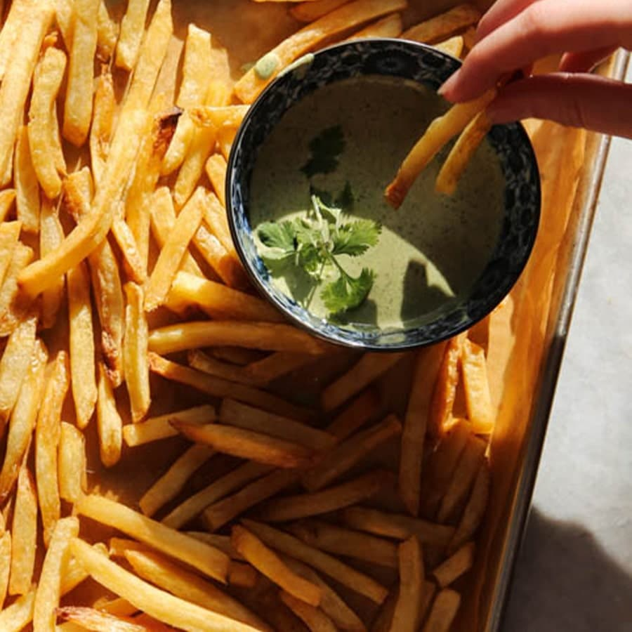 Fries with Spicy Cilantro